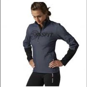 Camicia A Maniche Lunghe Crossfit Quarto Zip Delle Donne Reebok mCu5WC5DSp